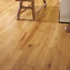 "Character 5"" Engineered White Oak Hardwood Flooring in Natural"