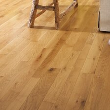 "Character 3-1/4"" Engineered White Oak Hardwood Flooring in Natural"
