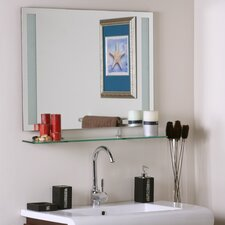 Frameless Roxi Wall Mirror with shelf