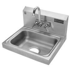 "17.25"" x 15.25"" Single Hand Wash Sink with Faucet"