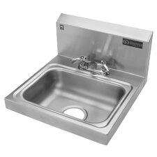 """17.25"""" x 17.25"""" Single Hand Wash Sink with Faucet"""