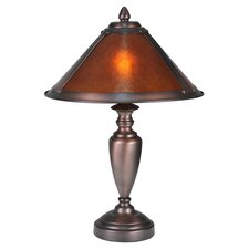 "Rustic Lodge 17"" H Table Lamp with Cone Shade"