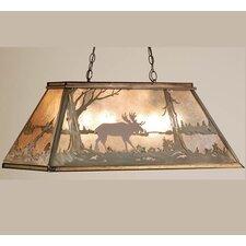 Moose at Lake 6 Light Pool Table Light