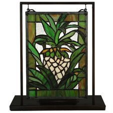 """Welcome Pineapple 9"""" Table Lamp with Novelty Shade"""