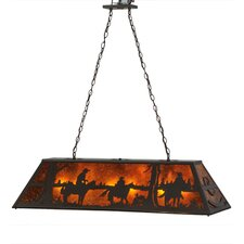 Personalized Rockin' C Ranch 9 Light Pool Table Light