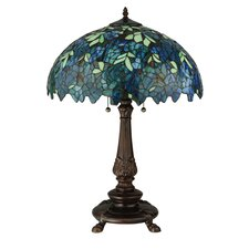 "Nightfall Wisteria 26"" Table Lamp with Bowl Shade"