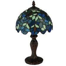 "Nightfall Wisteria 14"" Table Lamp with Bowl Shade"
