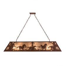 Wild Horses 9 Light Pendant