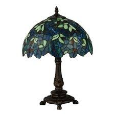 "Nightfall Wisteria 17.5"" Table Lamp with Bowl Shade"