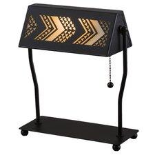 "Greenbriar Oak Aulani Banker's 13"" Table Lamp"