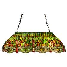 Tiffany 6 Light Oblong Pendant