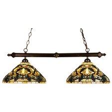 Tiffany Jeweled Grape 2 Light Pool Table Light