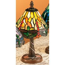 "Scarlet Art Glass Tiffany Hanging Head Dragonfly 12"" H Table Lamp with Empire Shade"