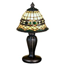 "Tiffany 13"" H Table Lamp with Bell Shade"