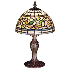 "Tiffany 13.5"" H Table Lamp with Bowl Shade"