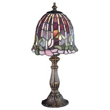 """Tiffany 16"""" H Table Lamp with Bell Shade"""