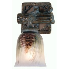 Northwoods Pinecone Hand Painted 1 Light Wall Sconce