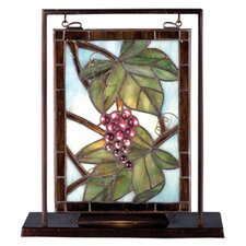 """Floral Nappa Vintage Lighted Mini 10.5"""" H Table Lamp with Rectangular Shade"""