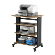 Mobile Printer Stand with 4 Shelves