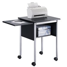 Mobiler Druckertisch mit ausziebarer Ablage