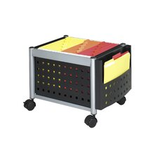 Mobile File Cart Mini with Storage Cabinet