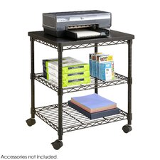 Mobile Printer Stand with Shelves
