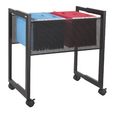 Mobile Adjustable Mesh File Cart