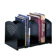 Adjustable 5 Section Steel Book Rack