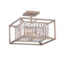Linares 3 Light Semi Flush Mount