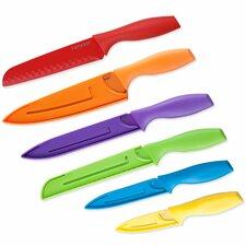 12 Piece Colored Knife Set