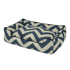 Spellbound Premium Cotton Blend Lounge Bolster Dog Bed