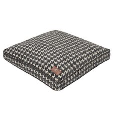 Flocked Square Pillow Dog Bed