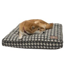 Flocked Rectangle Pillow Dog Bed