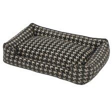 Flocked Lounge Dog Bed