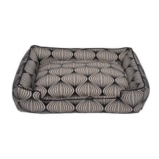 Flocked Lantern Lounge Bolster Dog Bed