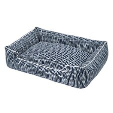 Pearl Navy Cotton Blend Lounge Bed