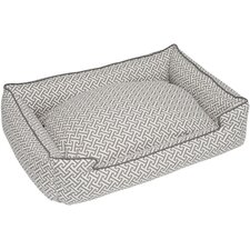 Hera Everyday Cotton Lounge Bolster Dog Bed