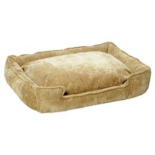 Corduroy Lounge Bolster Pet Bed