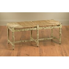 Wicker 2 Seat Entryway Bench