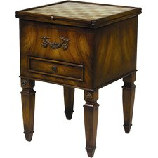 Single Drawer Game Table in Brown