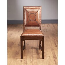 Stitched Back Leather Side Chair