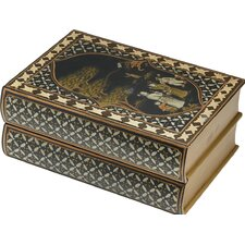 Chinoiserie Design Two Drawer Decorative Box