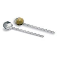 2-tlg. Olivenlöffel-Set Utilo in Silber