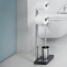 Menoto Free Standing Toilet Roll and Brush Holder