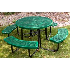 Round Picnic Table with Perforated Pattern