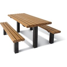 UltraSite ADA Multi-Pedestal Recycled Plastic In-ground Table