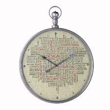 Linen Face Metal Clock