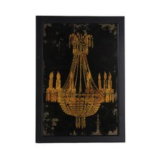 Chandelier Framed Painting Print
