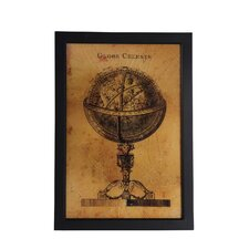 Vintage Globe Framed Graphic Art