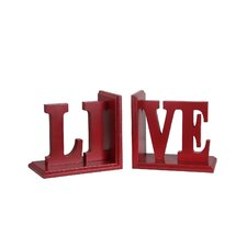 Live Wooden Bookend
